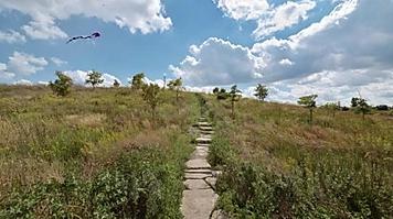 Button to visit a chicago trail park