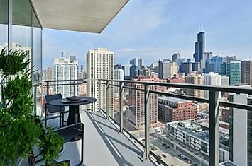 Overlook of chicago city