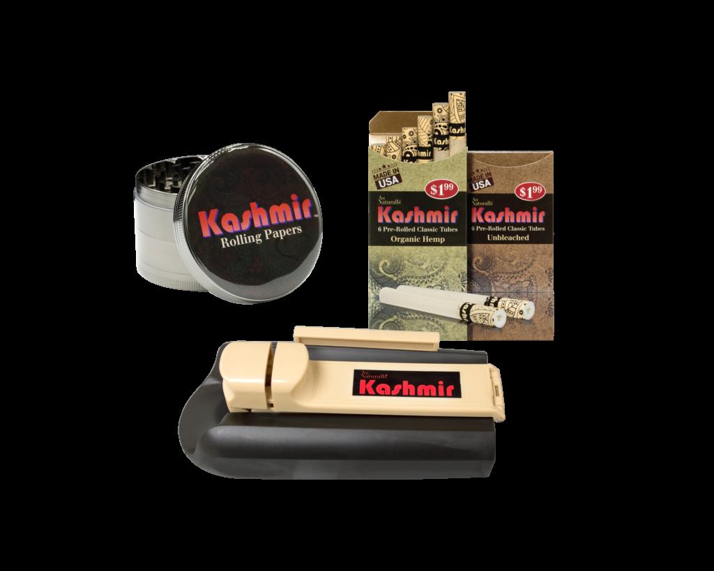 Kashmir pre rolled tubes and grinder